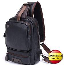 Bandolera HASAGEI, mochila cruzada para hombre color negro 34*21*13CM