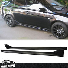 For 2008-2017 Mitsubishi Lancer OE Style Side Skirts Bodykit PP Black Spoiler