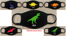 Dinosaur Youth Face Mask Child'S Size Soft 95/5-Cotton/Spandex Double Layered