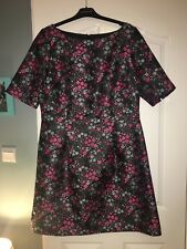 Boden black floral jacquard Christmas party dress size 18 R, BNWT. RRP £160