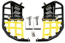 Suzuki LTZ 400  Nerf Bars  Pro Peg thru 2008 Alba Racing  black bars yellow nets