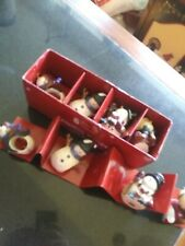 8 St. Nicholas Square Napkin Ring Holders The snow friends collection