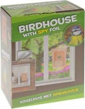 Window Mounted Plastic Birdhouse Nest Nesting with Spy Foil Viewing Outdoor Gift
