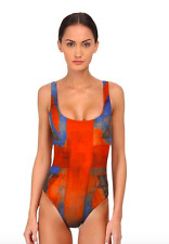 VIVIENNE WESTWOOD PROPAGANDA ANGLOMANIA ONE PIECE SWIMSUIT RED  X SMALL $300