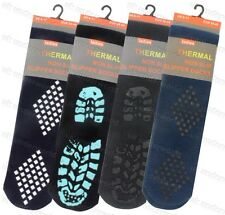 4 Pairs Men's SLIPPER Gripper Thermal Socks Non Slip Silicone Grip Winter Warm