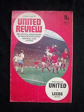 Orig.PRG   England 1.Division  1969/70  MANCHESTER UNITED FC - LEEDS UNITED AFC