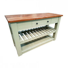 Handmade Rustic Painted Kitchen Island (Solid Wood Bespoke)