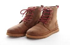 UGG AUSTRALIA Chukka Boots 9 M Sandy Brown Leather HARKLEY Waterproof Wool Lined
