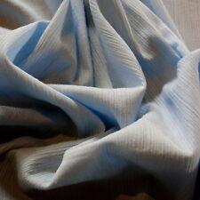 VINTAGE RETRO FINE COTTON PALE BLUE CHEESECLOTH DRESS FABRIC 105cm x 250cm