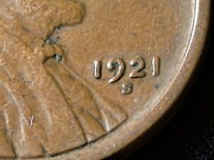 1921-S Lincoln Wheat 1 Cent Penny Nice Coin
