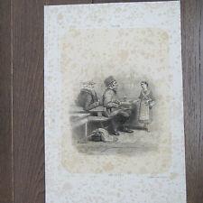 "GRAVURE 1870 STRASBOURG BAR "" ZWEI FER E SU """