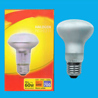 2x 46W (=60W) Halogen R63 Dimmable Pearl Reflector Spot Light Lamp ES E27 Bulb