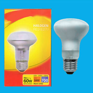2x 46W (=60W) Halogen R63 Dimmable Pearl Reflector Spot Light Lamp ES E27 Bulb