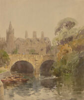 Charles Edward Hannaford RBA - Early 20th Century Watercolour, River Scene
