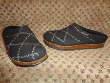 STEGMANN NAVY BLUE & WHITE DIAMOND PATTERN BOILED WOOL FELT CLOGS SLIPPERS-6 6.5