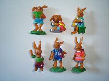 Onken Cute Easter Bunnies School Figurines Set Germany - Figures Collectibles