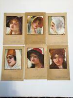 6 x French Vintage Postcards in Colour  Paris  9  x 14cm Great Condition