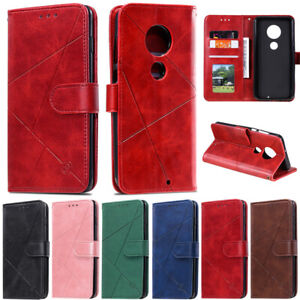 Luxury Wallet Leather Flip Case Cover For Motorola Moto G7 Plus G6 Plus G8 Power