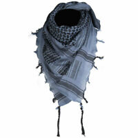 Mens Womens Tactical Shemagh Military Army Neck Arab Scarf Scrim Headscarf Blue