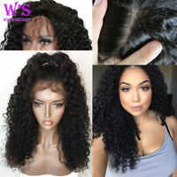 Curly Wave Lace Front Wig 100% Virgin Human Hair Full Lace Wig Natural Deep Wave