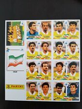 PANINI FIFA WORLD CUP FRANCE 98  - Complete team IRAN extrastickers - copy
