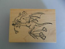 CREATIVE IMAGES RUBBER STAMPS CISTAMPS DRAGON IN LOVE NEW STAMP