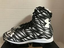 NEW YOUTH UNDER ARMOUR HIGHLIGHT RM sz 5.5 Y EU 38 BLACK WHITE Football Cleats