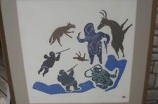 INUIT ESKIMO ART SIGNED ANNIE MIKPIGA NUMBERED 24/30 ART PRINT