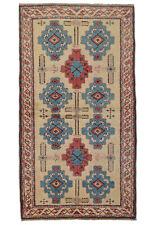 Vintage Turkish Balikesir Rug, 3'x6', Ivory, Hand-Knotted Wool Pile
