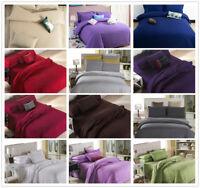 Solid Color 15-colors Duvet cover Doona cover Pillowcase bedding set 3-pcs