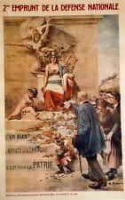 """""""2e EMPRUNT DE LA DEFENSE NATIONALE 1916"""" Affiche originale entoilée A. ROBAUDI"""