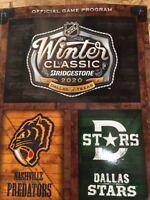 2019 2020 WINTER CLASSIC OFFICIAL GAME PROGRAM NASHVILLE PREDATORS DALLAS STARS
