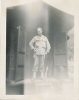 WWII 1945 25th SC GI's Camp Dalton, Luzon, PI Photo GI Gqables on XI-48 Switch T