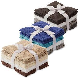Colormate Multi-Color 8-Pack Washcloths Set - Tan, Blue, Grey