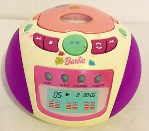 2002 Mattel Barbie CD Player Stereo Tested Works GD