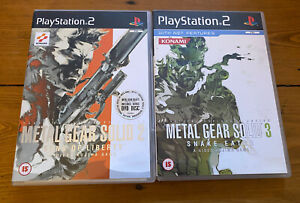 Metal Gear Solid 2 Sons of Liberty & 3 Snake Eater (Sony Playstation 2, PS2)