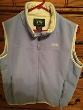 *GUC* Cabellas Women's Purple Fleece Vest - Size Med - Zip front w/zip pockets