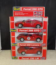 3) Vintage 1988 Revell Ferrari 288 GTO, 250 LM & 250 Lemans MIB 8601 8603 & 8607