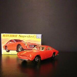 Matchbox Lesney. #75 Ferrari Berlinetta Superfast VNM IN Box