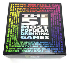 The 51 Most Popular Drinking Games Adult Party Game Gag Gift Complete Set 2012