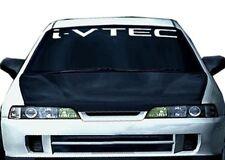 (2) WHITE I-VTECH WINDOW STICKER  DECAL EMBLEM CIVIC S2000 ACCORD JDM IMPORT