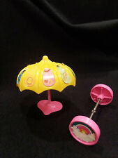 Care Bears Cloud Car Yellow Umbrella Parasol Wheel Axle Accessories