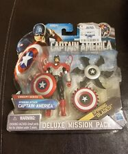 New 2010 Spinning Attack Captain America Figure  Deluxe Mission Pack Concept Ser