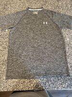 NWOT Under Armour HeatGear UA Tech Heather Grey Workout Top Shirt NWOT | sz S