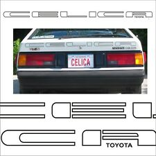 Toyota Celica / Supra GT-S tailgate / hath decal sticker graphic restoration MK2