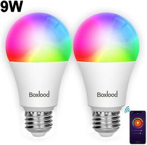 WiFi Smart Bulb Smart Light Bulb Compatible with Alexa & Google Home, No Hub Req