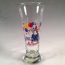 Anheuser Busch BUD LIGHT Spuds Mackenzie Party Animal Flare Pilsner Beer Glass
