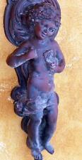 Ragazzo giovane ragazzo nudo atto muro in lampade scultura personaggio antico ALT