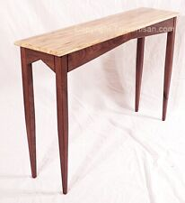 Ambrosia Maple Walnut Console Hall Sofa Table Handcrafted in USA