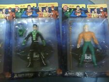 Dc Direct Jla 4 Figure Set Superman/The Flash/Aquaman/Lantern New Free Ship Us